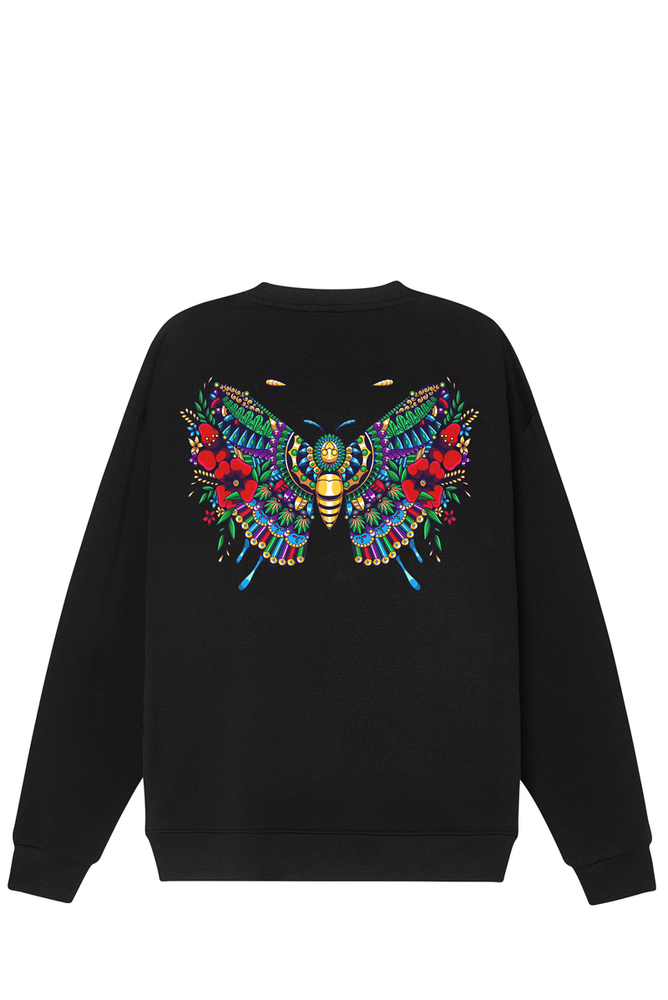 Áo Sweater BUTTERFLY Black