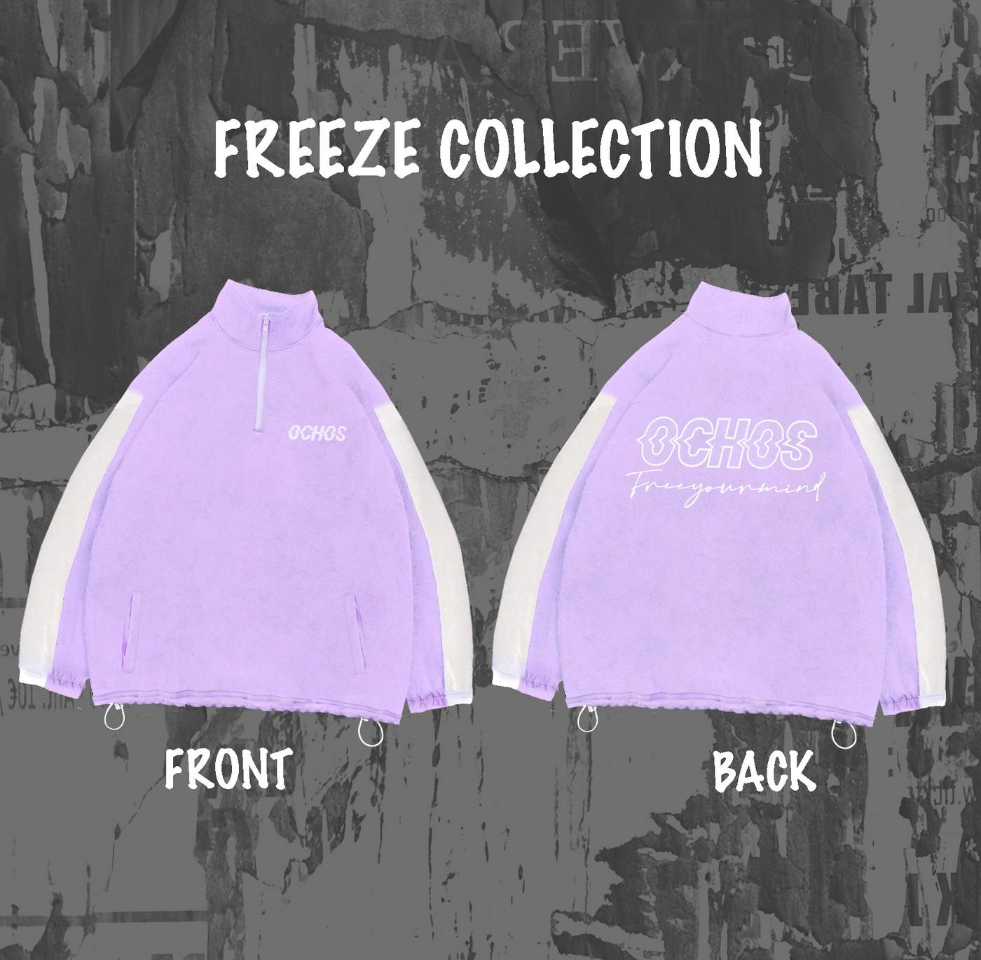 FREEZE SWEATER (PURPLE WHITE)