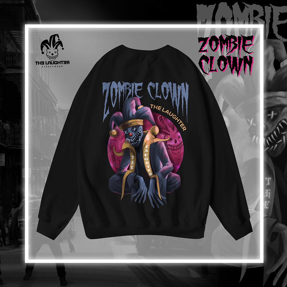 The Laughter - ZOMBIE CLOWN Sweater Black