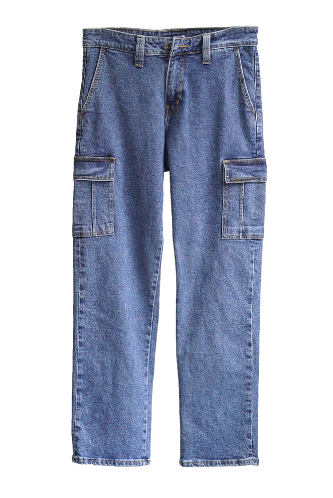 Relax Jeans Cargo - MID BLUE