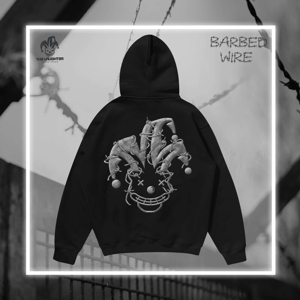 The Laughter -BARBED-WIRE HOODIE