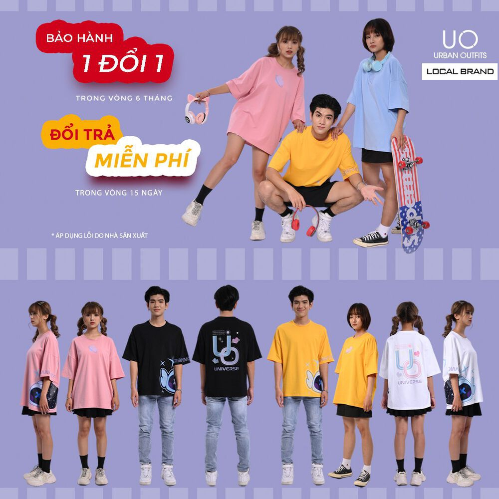 Áo Sweater Nữ Nam Form Rộng URBAN OUTFITS In SWAG SWO08 Cotton Nỉ