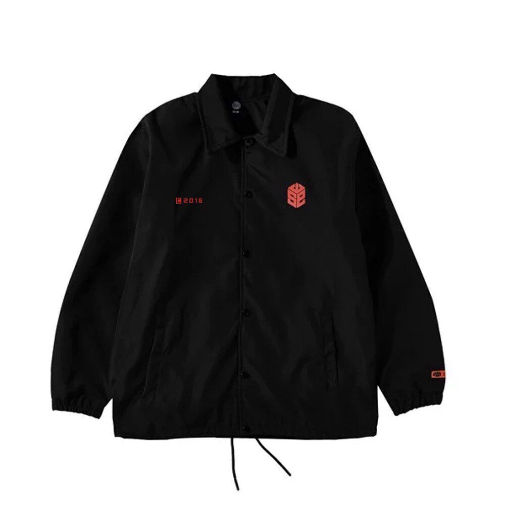 CUBE COACH JACKET - BLACK/RED