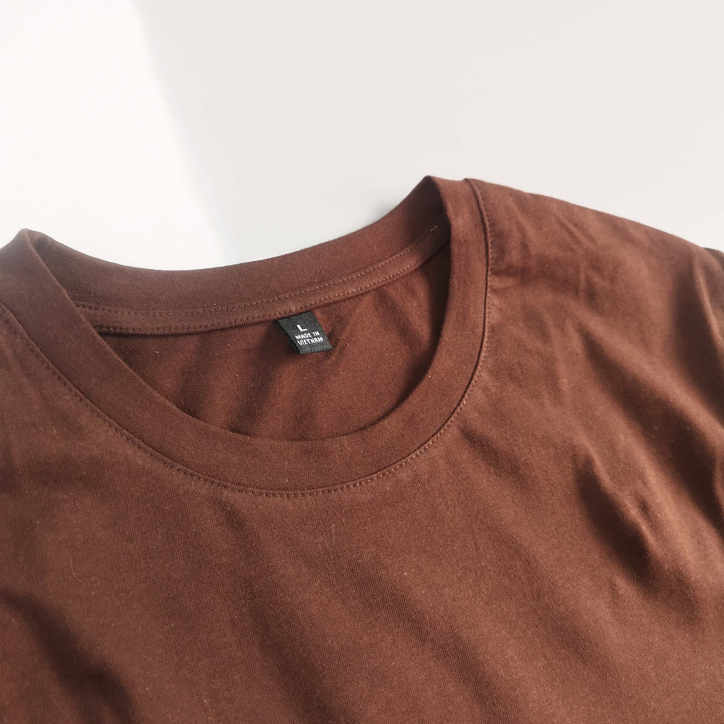 ÁO THUN UNISEX COTTON 100% IN HÌNH THE SKY IS NOT THE LIMIT (chocolate color)