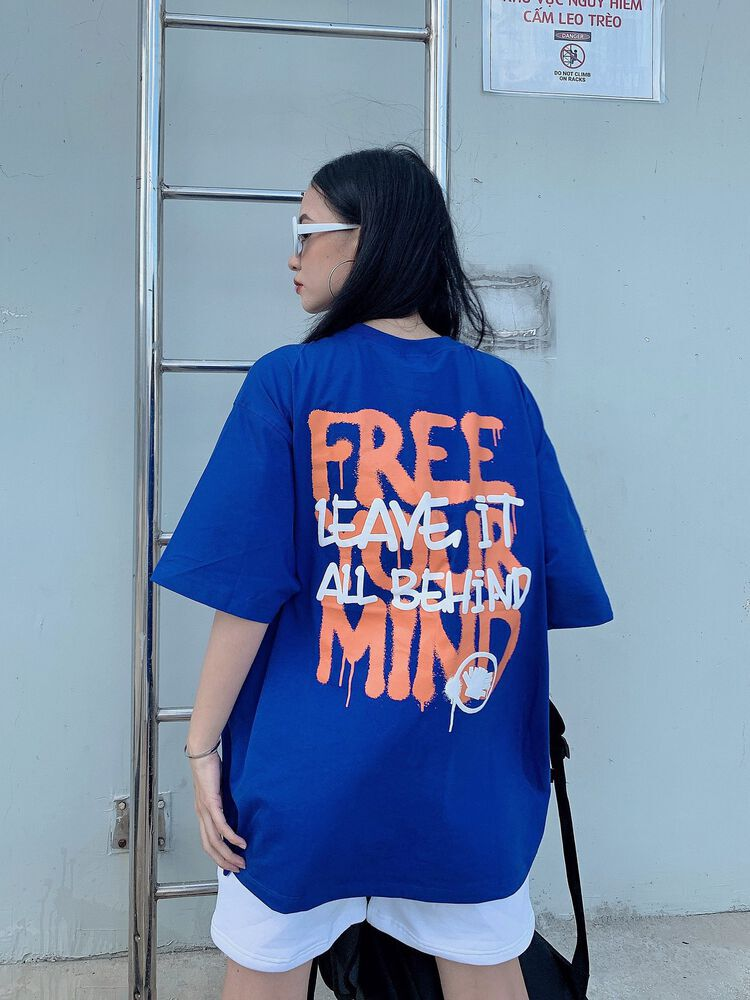 TEE FREE YOUR MIND (blue)
