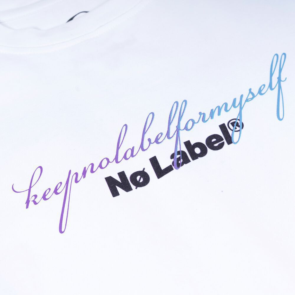 Keep No Label for myself T-shirt - WHITE