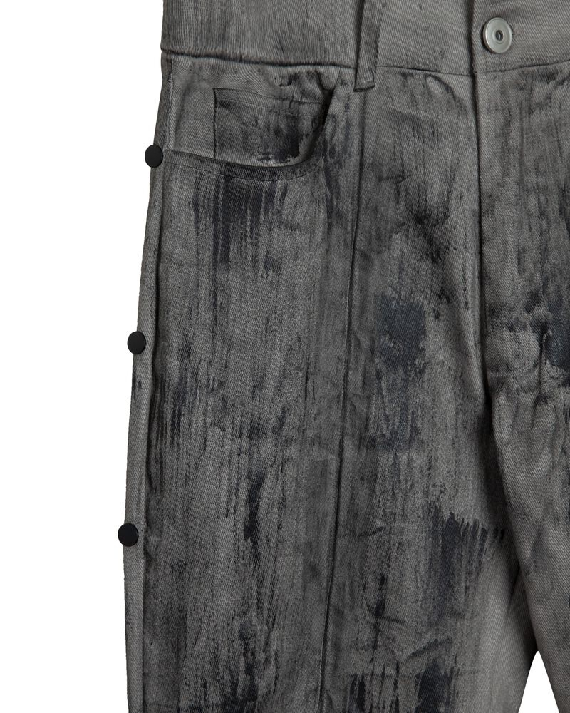 WAXED SLIM BUTTON PANT