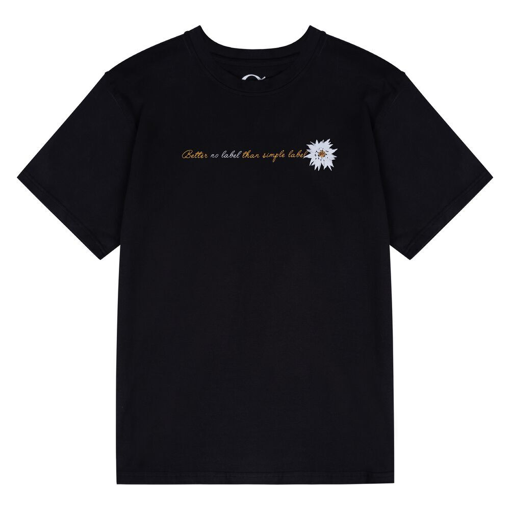 No Label T-Shirt - BLACK