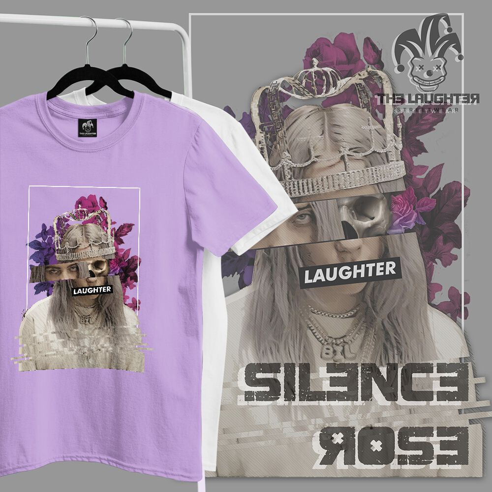 The Laughter - Silence Rose T Shirt Purple