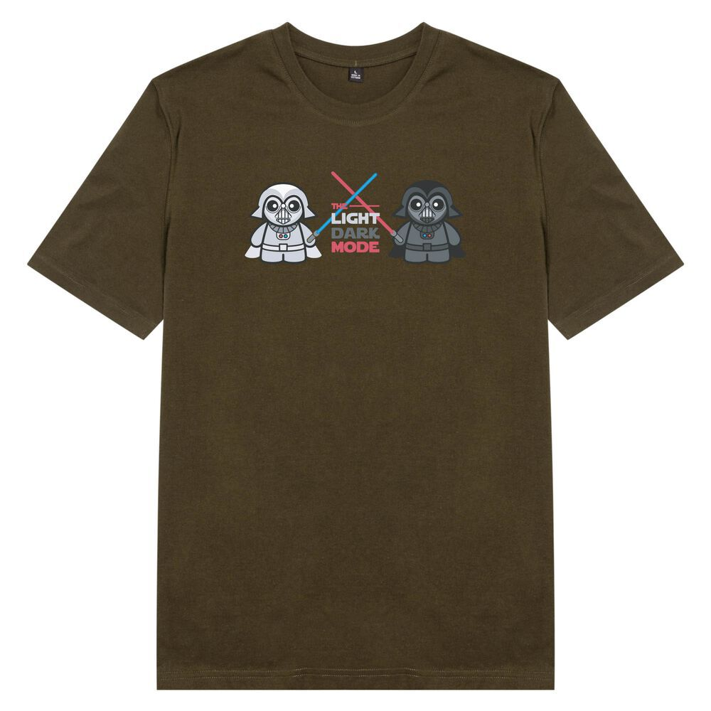 Áo thun unisex cotton 100%  in hình Lego - The Dark Mode (màu olive)