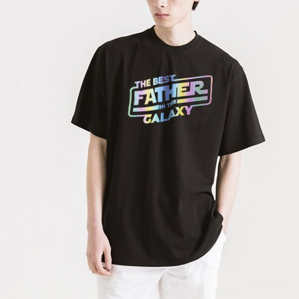 Phản quang the best father in the galaxy tee - LIKA14052012 - Kak - Đen