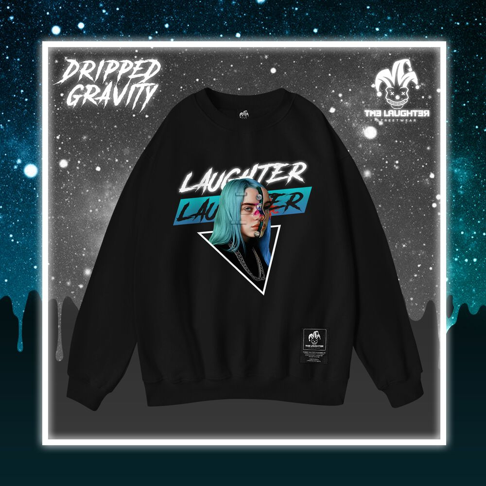 The Laughter - Dripped Gravity Sweater Black