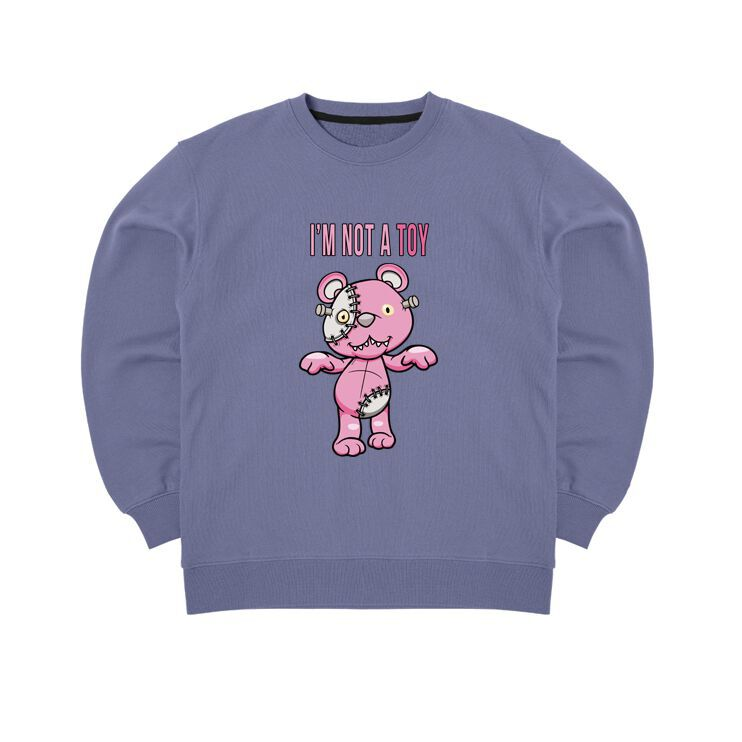 Áo sweater gấu teddy halloween im not a toy mvr - LITH19102005