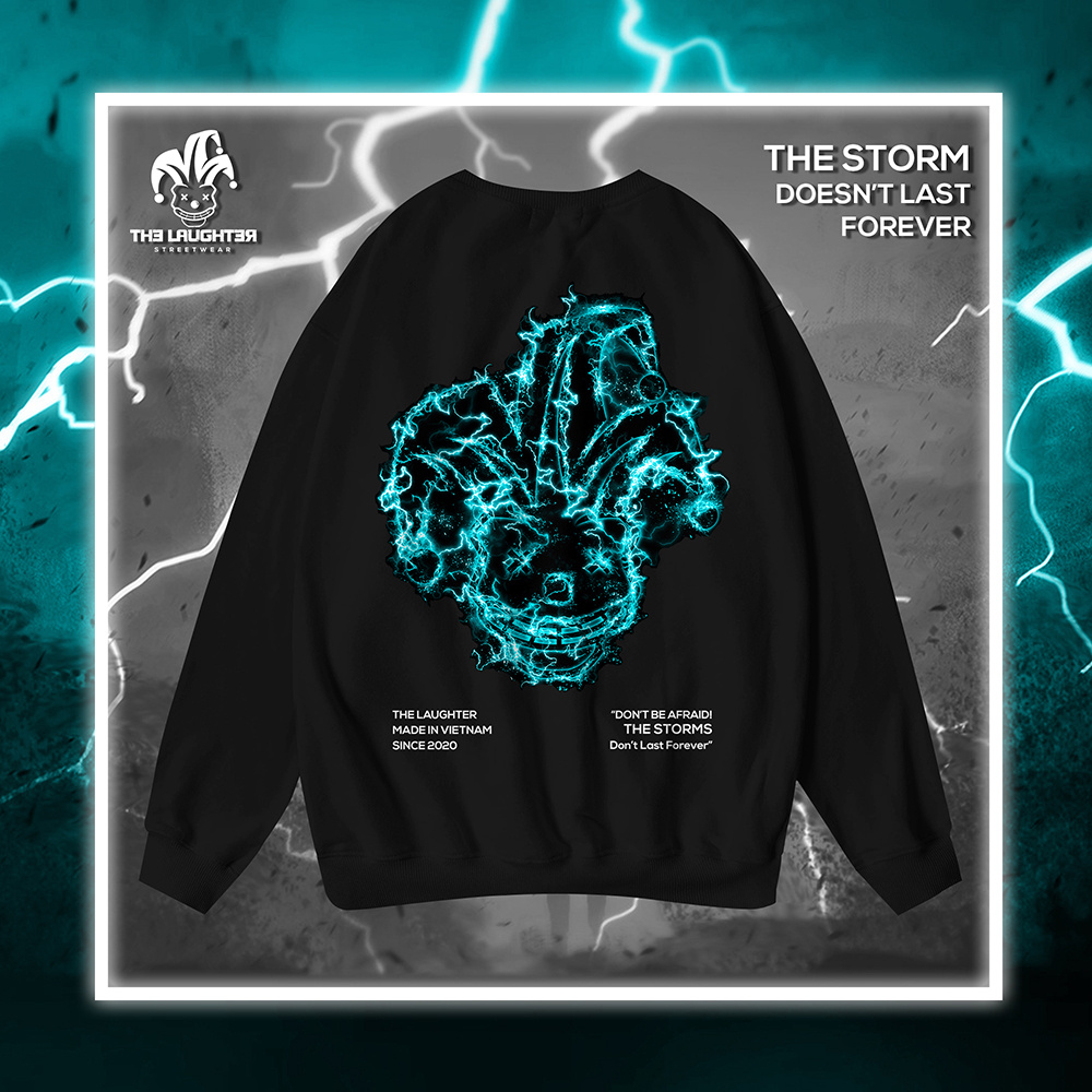 The Laughter - LIGHTNING Sweater Black