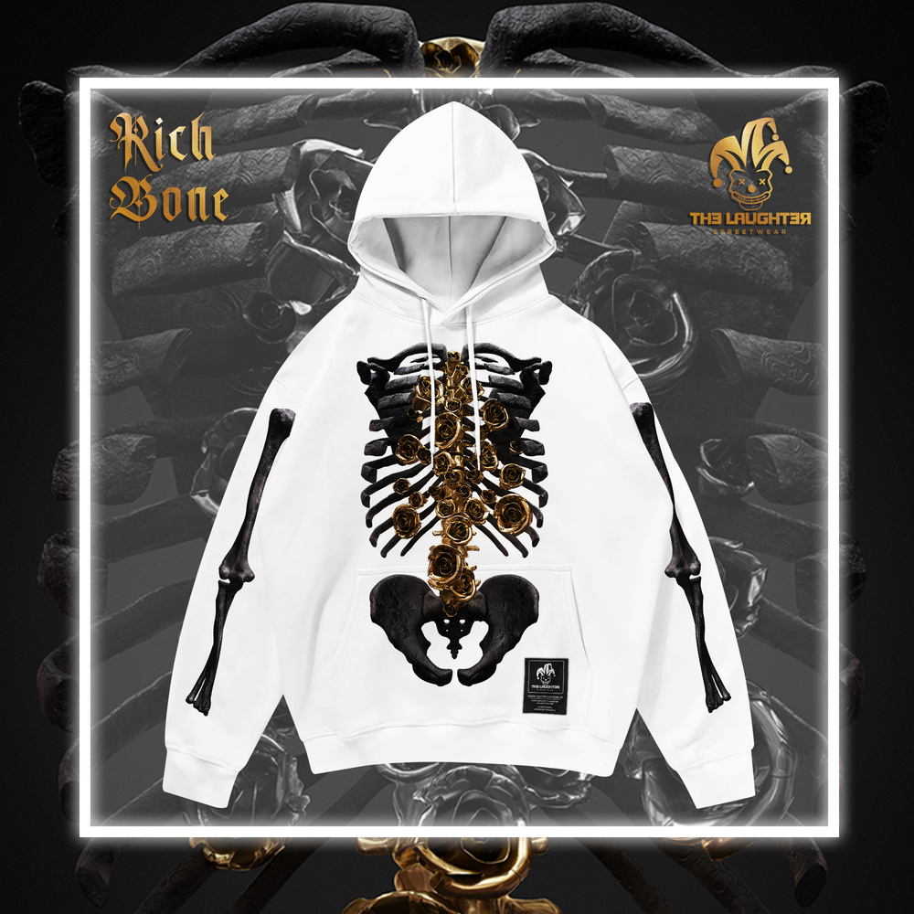 The Laughter - RICH BONE Hoodie White