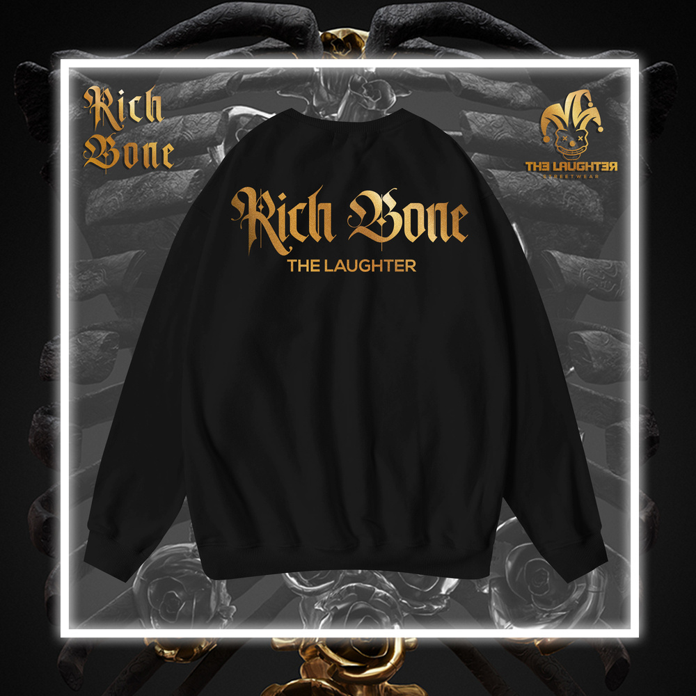 The Laughter - RICH BONE Sweater Black