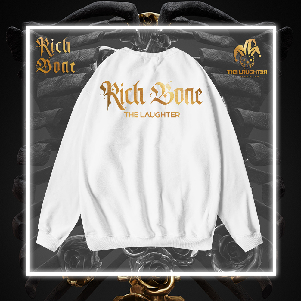 The Laughter - RICH BONE Sweater White