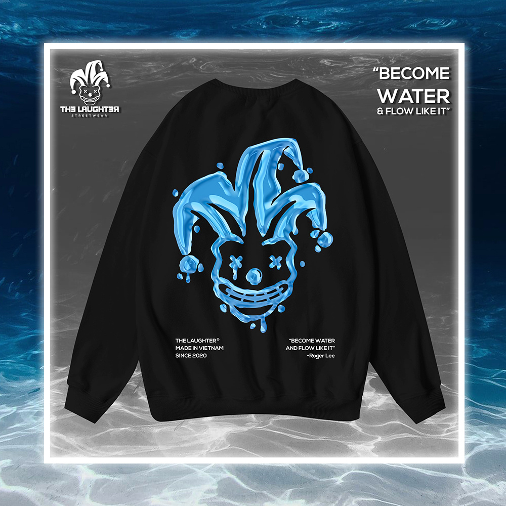 The Laughter - WATER Sweater Black