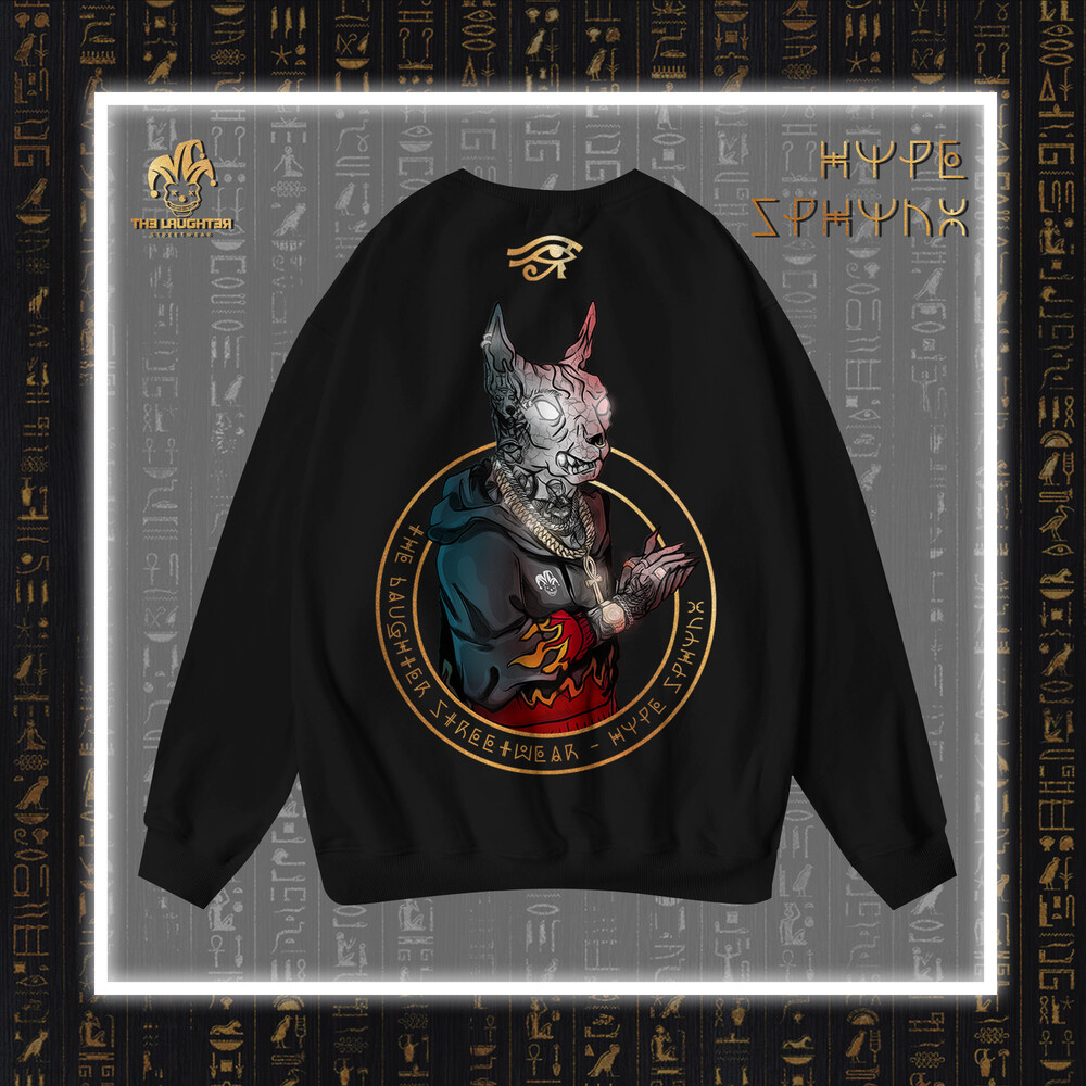 The Laughter - HYPE SPHYNX Sweater Black