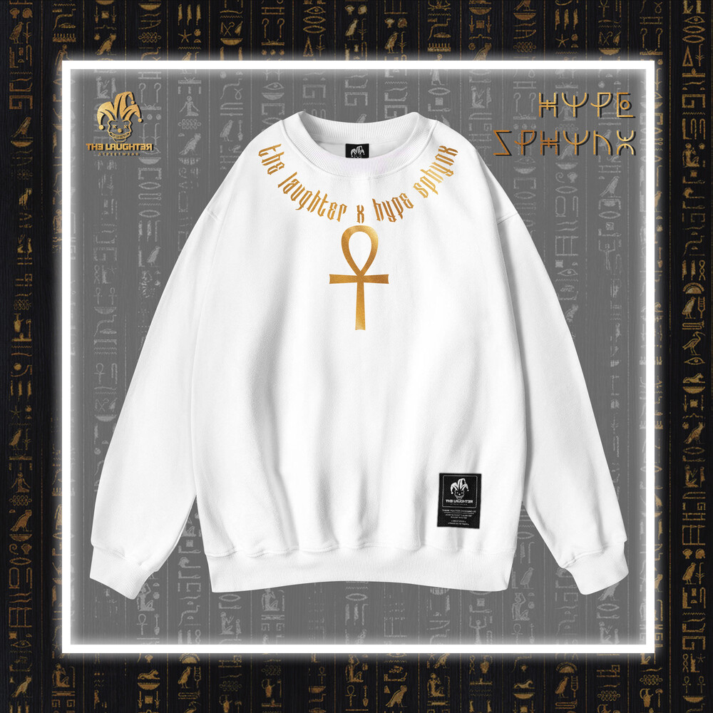 The Laughter - HYPE SPHYNX Sweater White