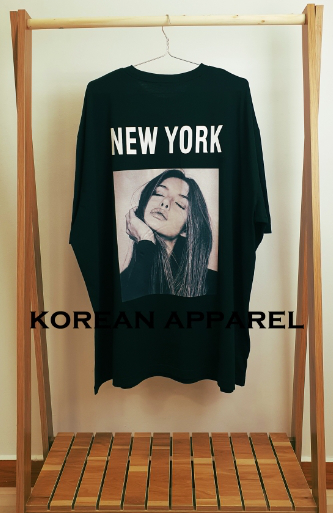 UNISEX OVERFIT BIG SIZE SHORT SLEEVE T-SHIRT NEW YORK