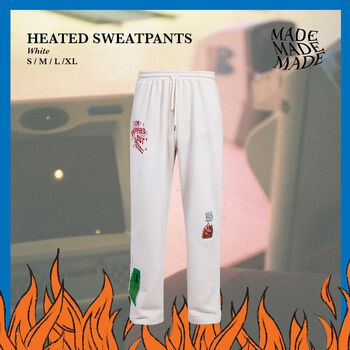 Heated sweatpants in White