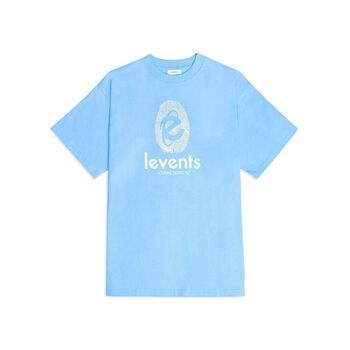 LEVENTS® ESSENTIAL FINGER PRINT TEE/ BLUE