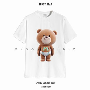 Tee White Teddy Bear