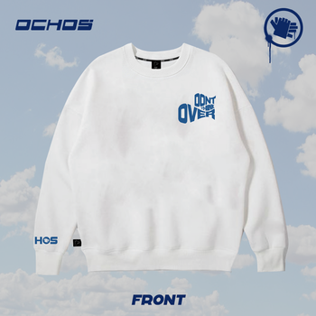 SWEATER DONT THINK OVER (white)