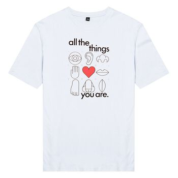 Áo thun unisex cotton 100% in hình All the things you are