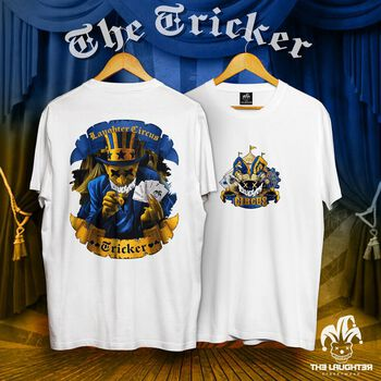 The Laughter - The Tricker T-Shirt White - 100% Cotton