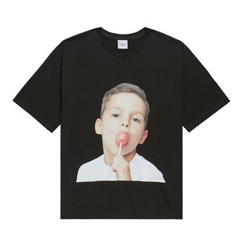ADLV BABY FACE SHORT SLEEVE BLACK CANDY T-SHIRT
