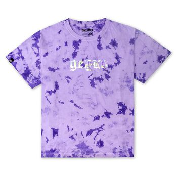GEK-DEEP PURPLE TIEDYE OVERSIZED TEE