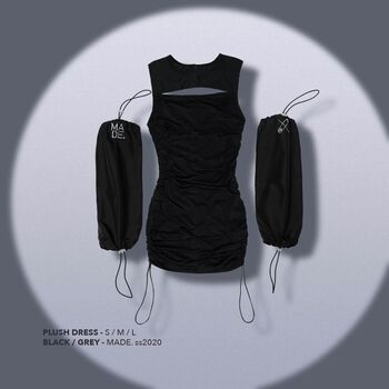 Plush Dress - Black
