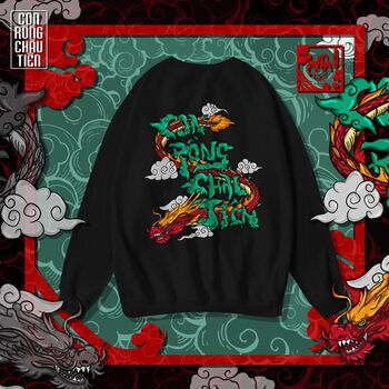 The Laughter - Con Rồng Cháu Tiên Sweater Black