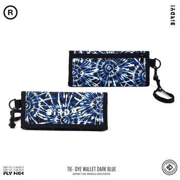 BIRDYBAG TIE- DYE WALLET - DARK BLUE
