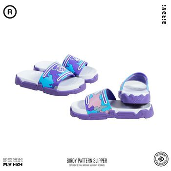 BIRDY PATTERN SLIPPER 2.0 – PURPLE