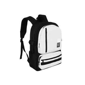 DOUBLE-BOX BACKPACK – WHITE