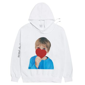 ADLV BABY FACE  HOODIE WHITE HEART