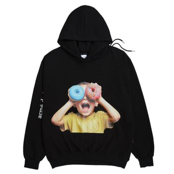 ADLV BABY FACE HOODIE BLACK DONUTS 5