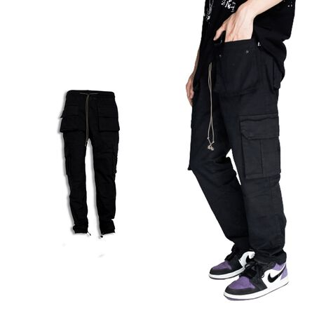 CARGO LOUNGE BLACK PANTS